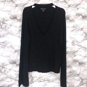 Forever 21 Black Keyhole Neckline Sweater